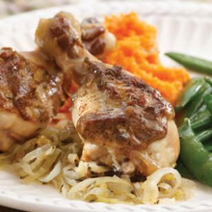 baked chicken and onions recipe