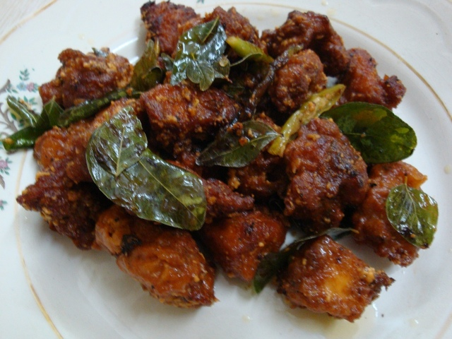 Andhra Chicken Fry Recipe 1