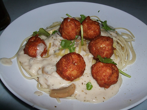 Chicken Balls In Cheese Soup recipe
