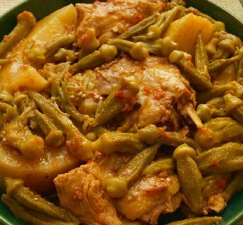 Chicken Okra Recipe 1