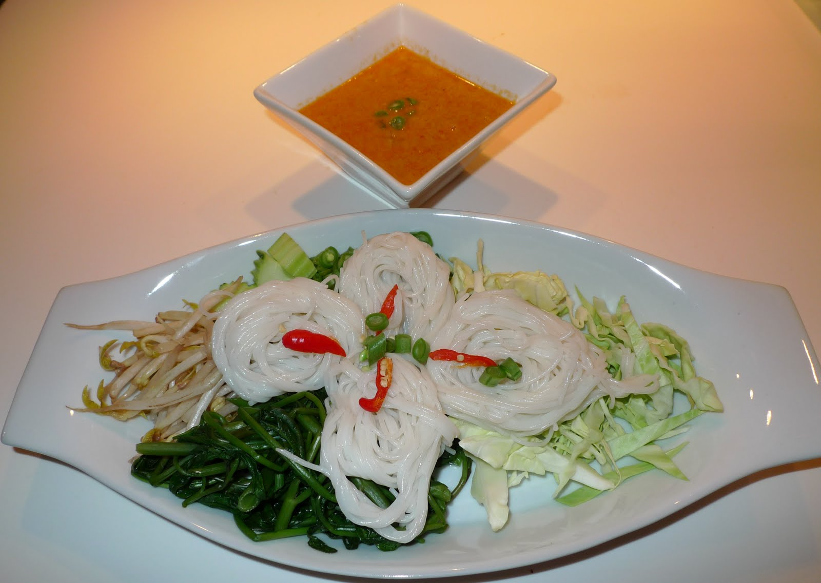 Noodles with Fish Curry Sauce Recipe 1