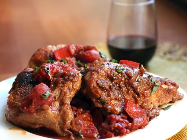 chicken in red wine recipe